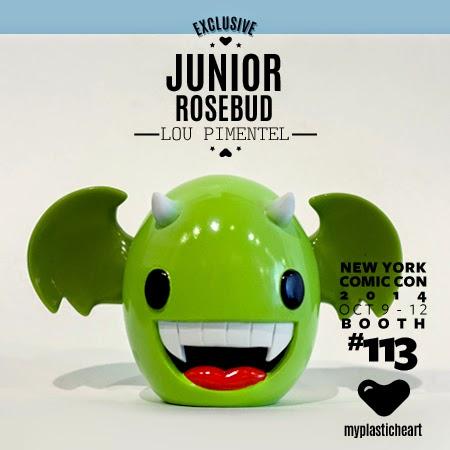 New York Comic Con 2014 Exclusive Rosebud Edition Junior Vinyl Figure by Lou Pimentel