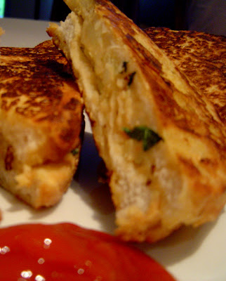 Eggless French Toast - Made from chickpea flour /gram flour