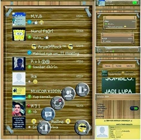 Download BBM Mod Themes Wood Version 2.7.0.21 Apk With Floating Tab