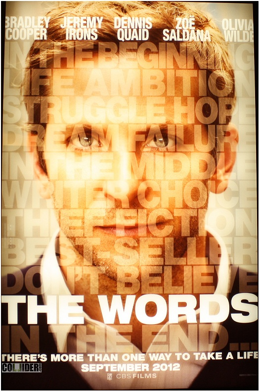 """HOLLYWOOD SPY: TRAILERS FOR """"THE WORDS"""" WITH BRADLEY ... The Words Bradley Cooper"""