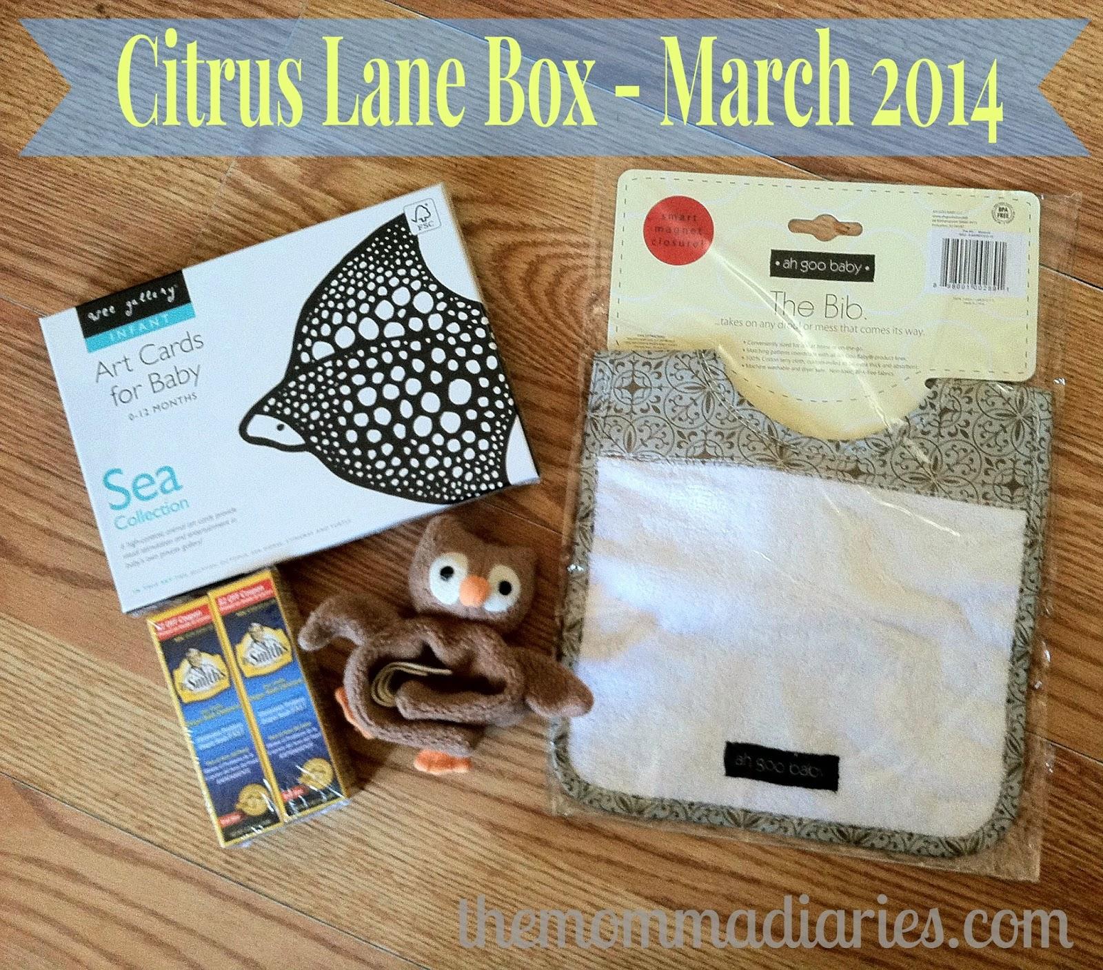 Citrus Lane Box March 2014