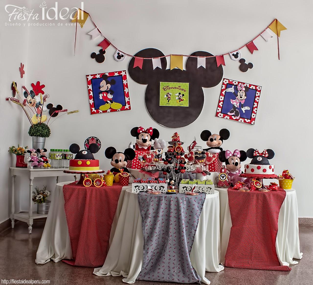 Fiesta Ideal Peru Decoracion Fiesta Cumpleanos Mickey Y Minnie
