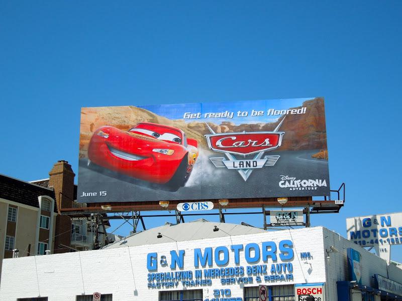 Disney Cars Land billboard