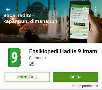 Kado Ramadhan 1436 H Lidwa: Ensiklopedi Kitab Hadits 9 Imam (Kutubut Tis'ah) Versi Mobile (Android)