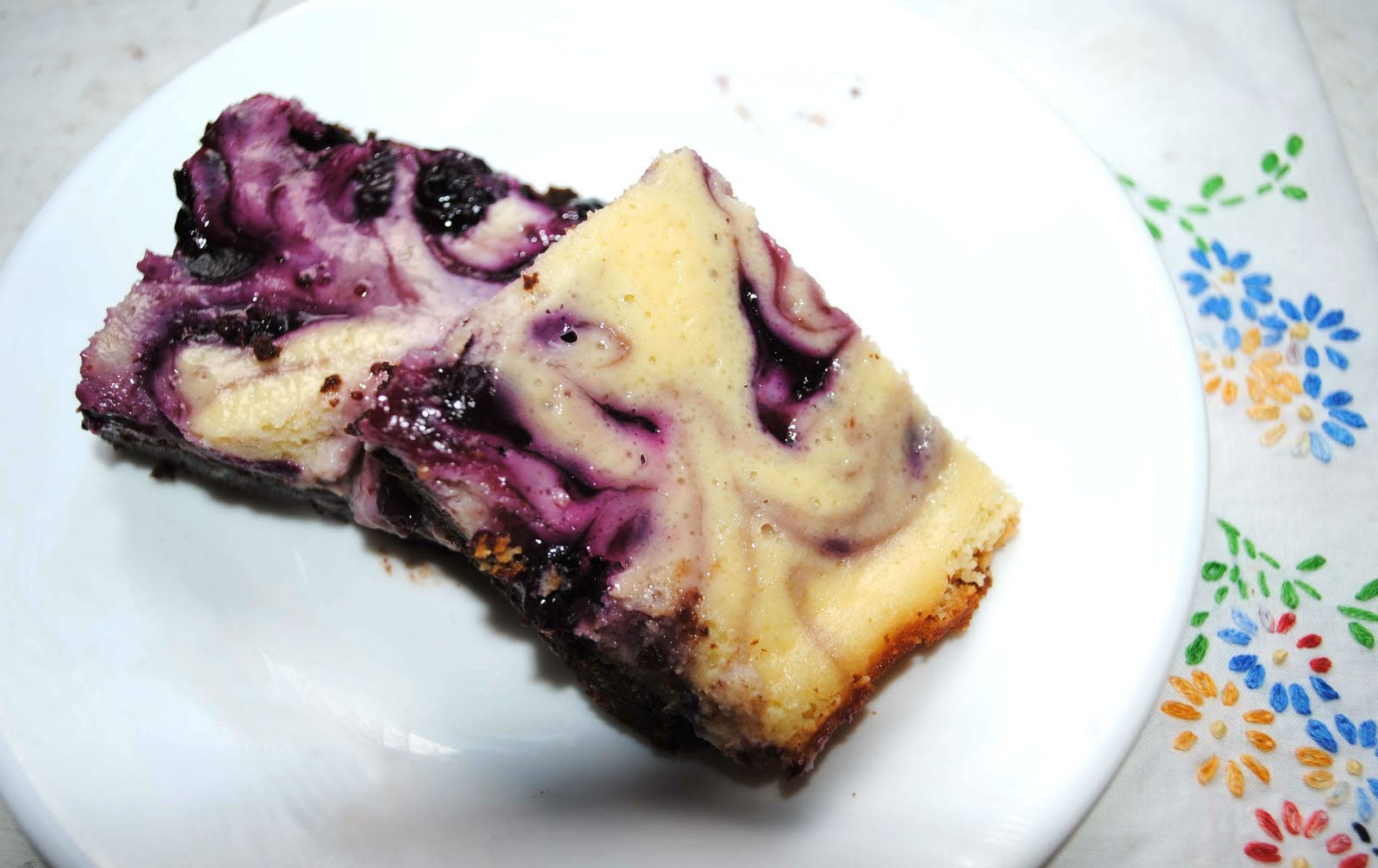 Blueberry Cheesecake Brownie Bars