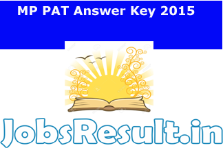 MP PAT Answer Key 2015