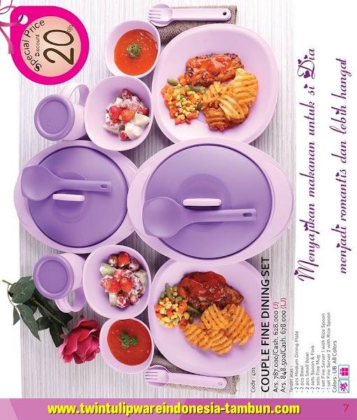 Promo Diskon Tulipware Februari 2016, Couple Fine Dining Set