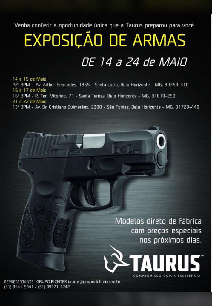 Exposição de armas da Taurus nas Unidades da RMBH