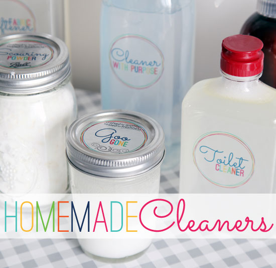 IHeart Organizing: May Mini-Challenge: Homemade Cleaners