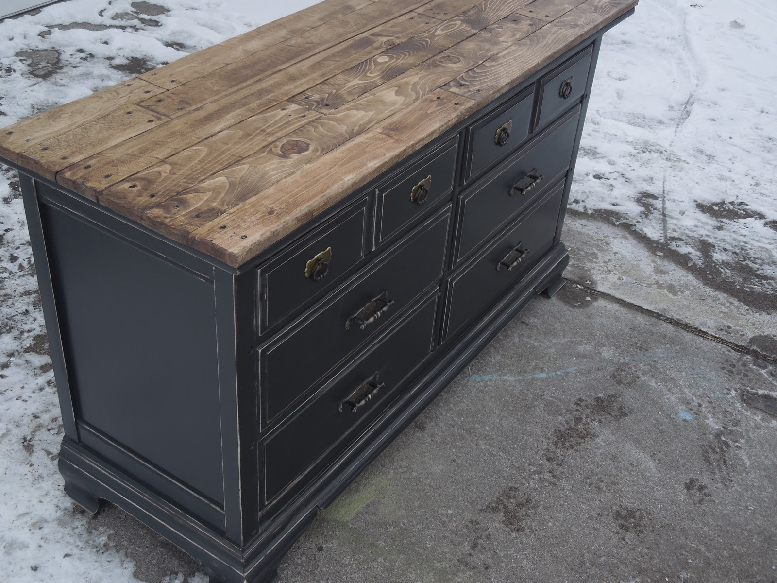 Tattered Lantern Black Dresser Sold Will Deliver Within 40 Miles For