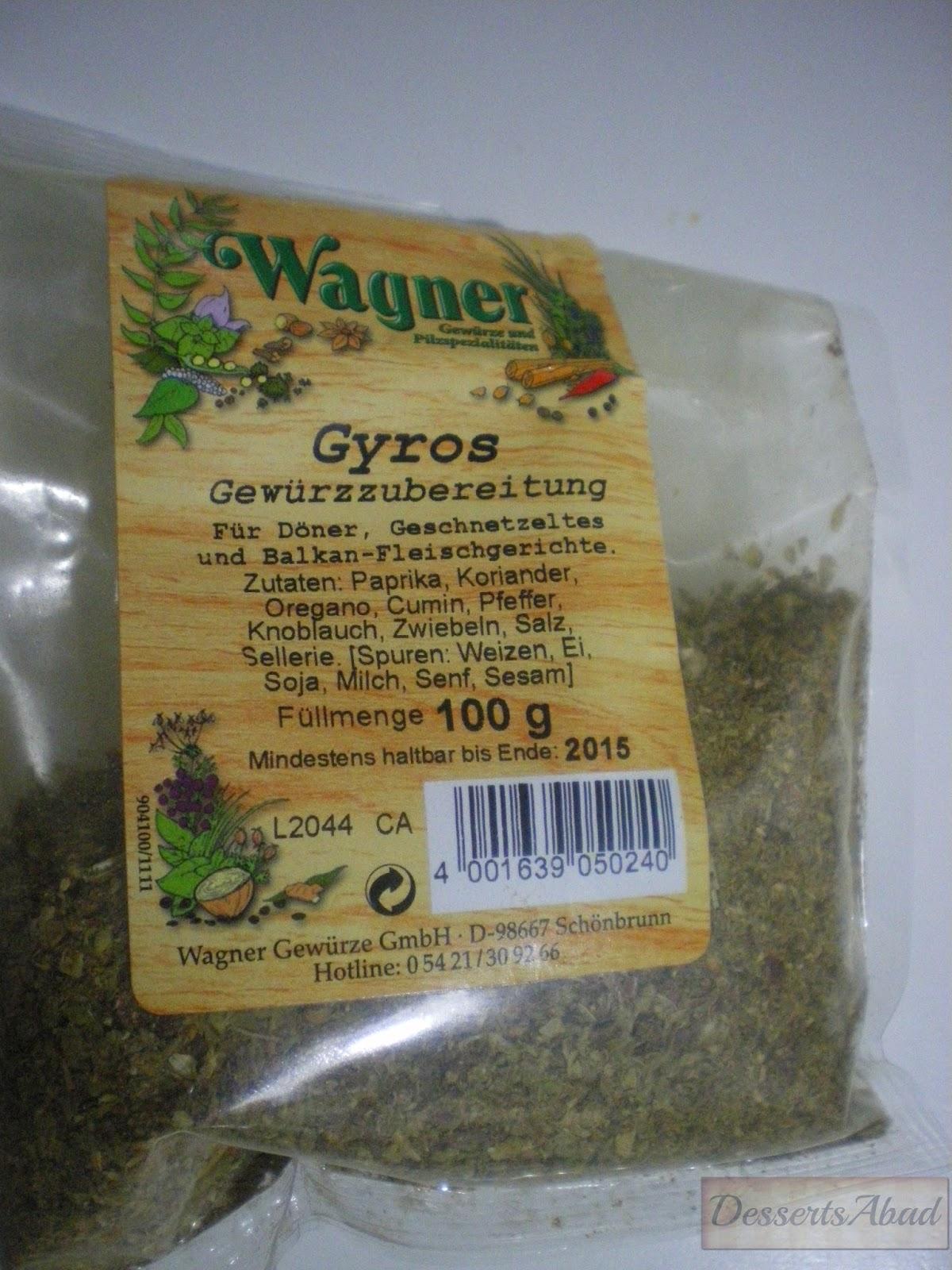 especias gyros