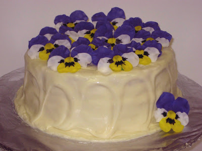Pansy Flower Cake 2