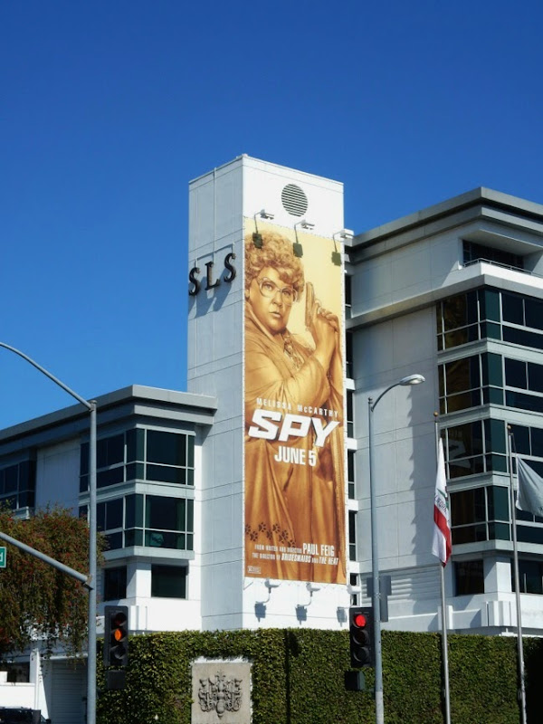 Spy film billboard