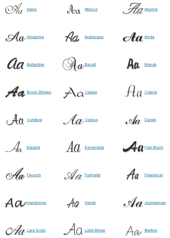 Old handwriting font hand writing