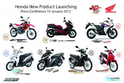 7 Honda Lineup 2012 Thailand Introduced In Bangkok Last Month