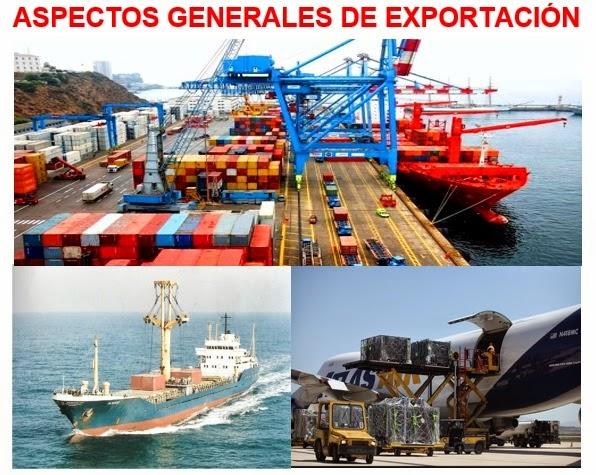 Aspectos generales de una exportacion