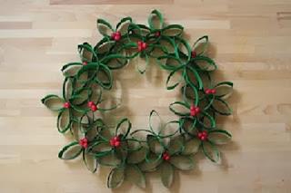Coronas de Navidad con Tubos de Cartón, Manualidades Paso a Paso