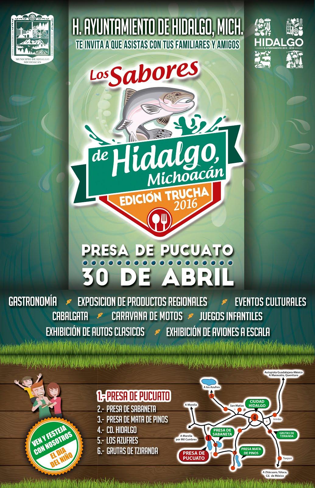"""""""Los Sabores de Hidalgo, Michoacán, Edición Trucha 2016"""