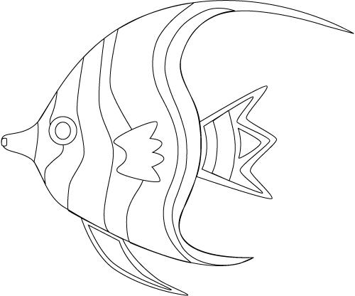 Angel Fish Coloring Page Printable