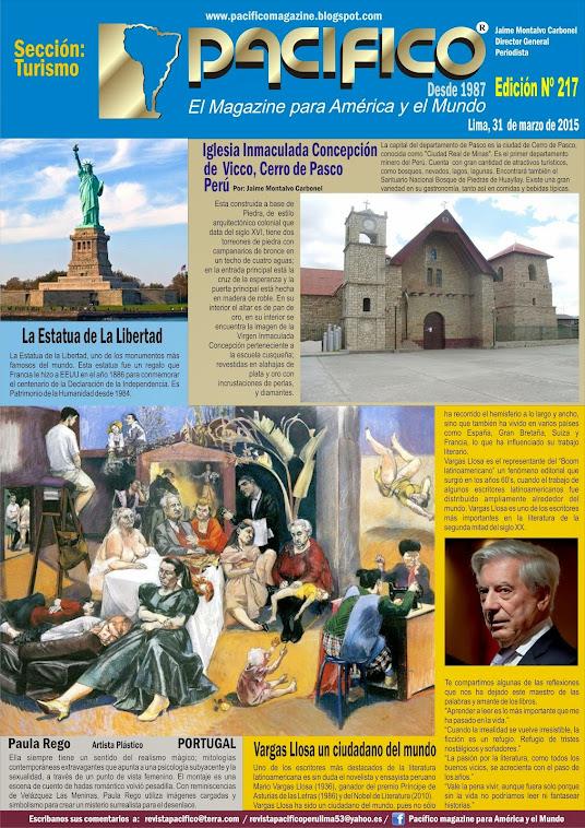 Revista Pacífico Nº 217 Turismo