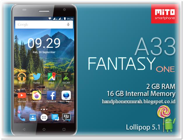 Spesifikasi Mito A33 Hp Android Ram 2gb Harga 1 Jutaan