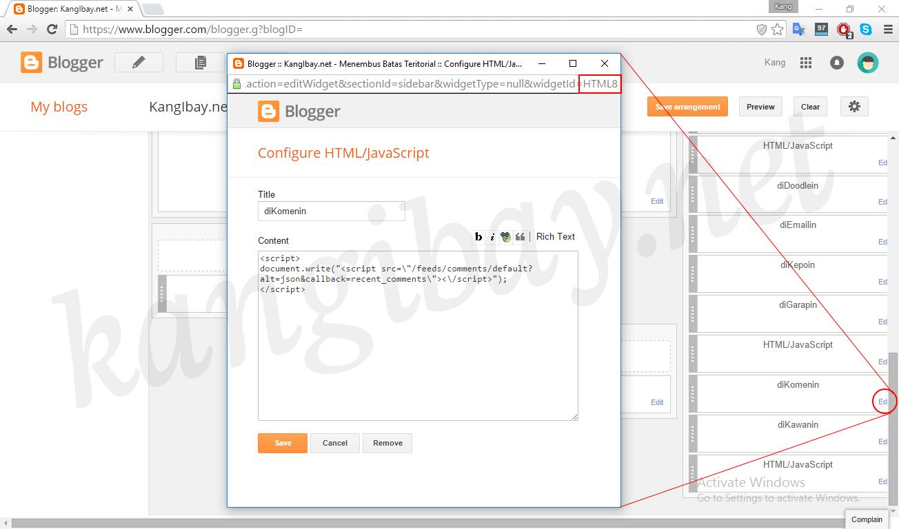 Membuat Scoll Pada Widget Yang Ada Di Blog