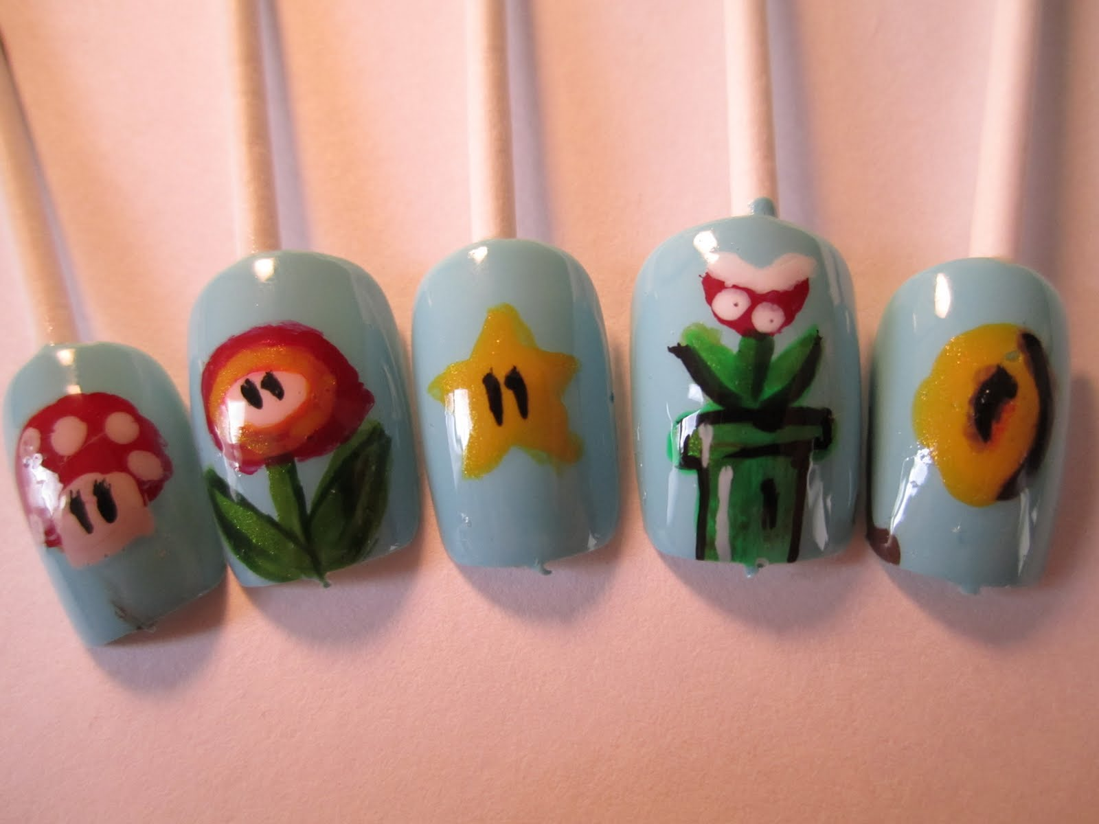 Jessica\'s Nail Art: Costume Party nails