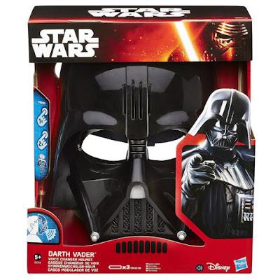 TOYS : JUGUETES - STAR WARS 7 Darth Vader : Casco Modulador de Voz Voice Changer Helmet | Máscara - Mask Episodio 7 El Despertar de la Fuerza Episode 7 The Force Awakens Producto Oficial Película Disney 2015 | Hasbro B3719 | A partir de 5 años Comprar en Amazon España & buy Amazon USA