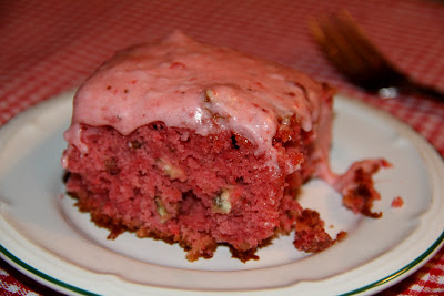 strawberry cake with coconut and pecan texas sheet cake red