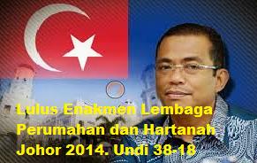 Disebalik Pindaan Lapan Fasal Enakmen LPH Johor 2014