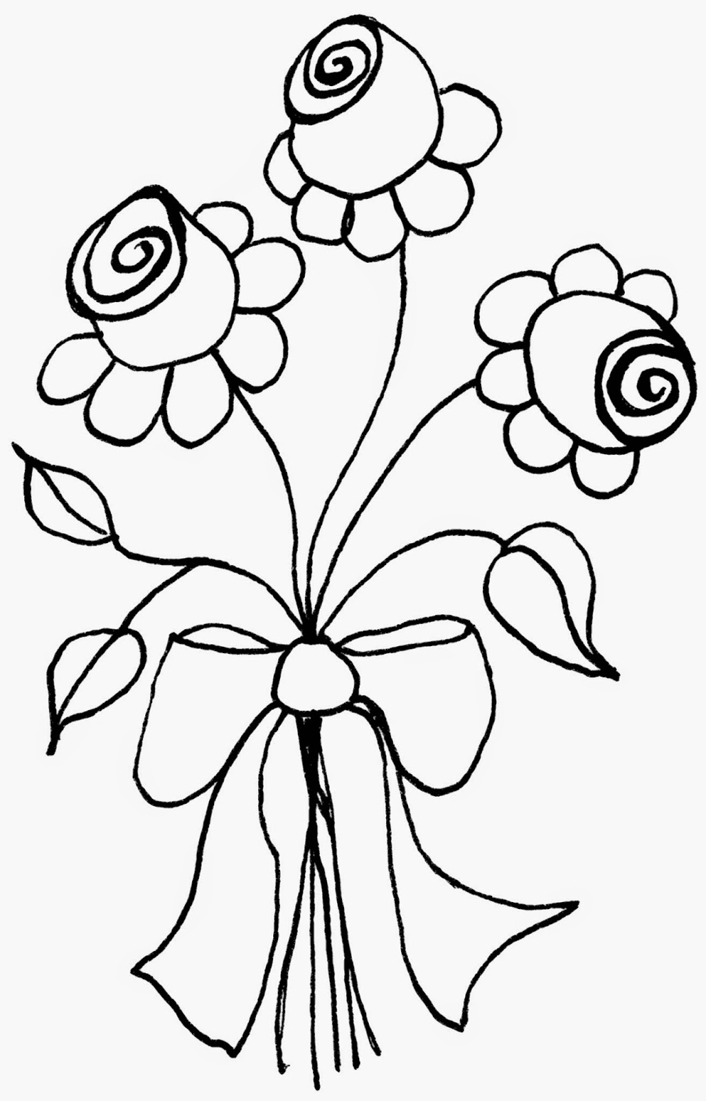 Bouquet, Free Crudoodle Digital Stamp by Tori Beveridge