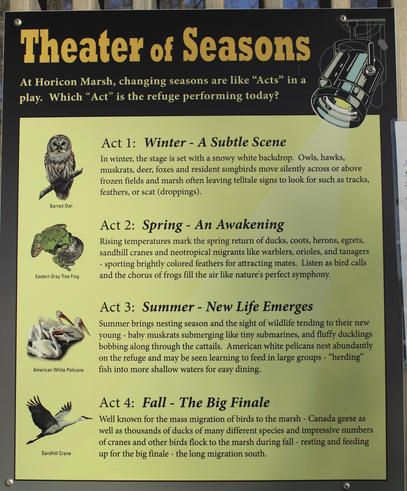 Spring Is In Air Cranes Are Returning >> Wisconsin Historical Markers Theater Of Seasons