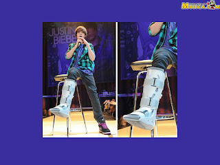 Justin Bieber injured pics