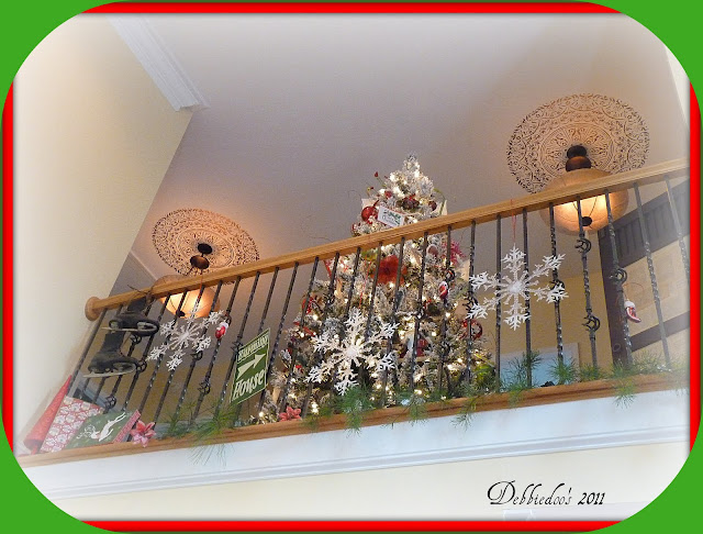 bbbbbbbbbb Decorating the banister for the Christmas Holiday!