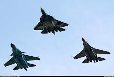 Sukhoi su-50+Su-34+Su-35BM