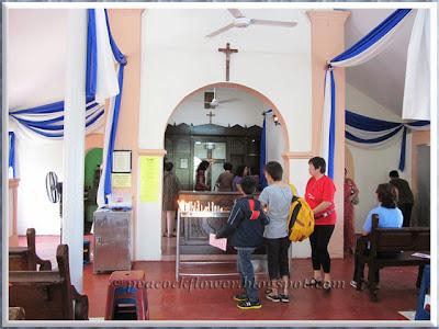 Inside the Chapel of Santa Cruz, Malim in Malacca