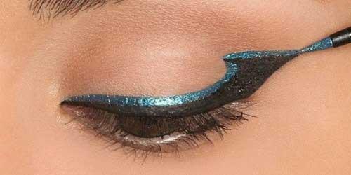 como maquillarse los ojos con doble eyeliner