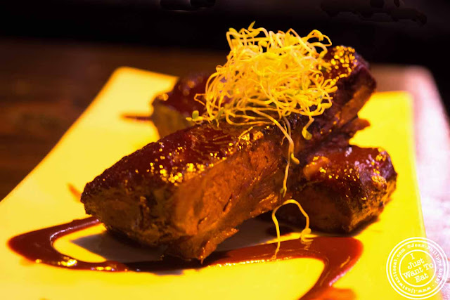 Image of Chocolate ribs at Ember Room from Chef Kittichai in NYC, New York