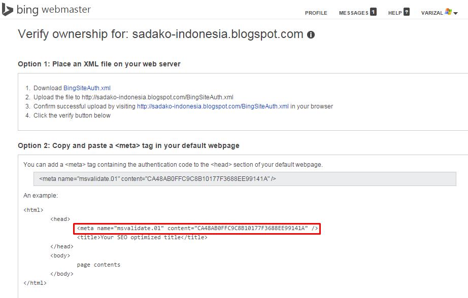 Langkah-langkah mendaftarkan situs di Bing Webmaster Tools 4