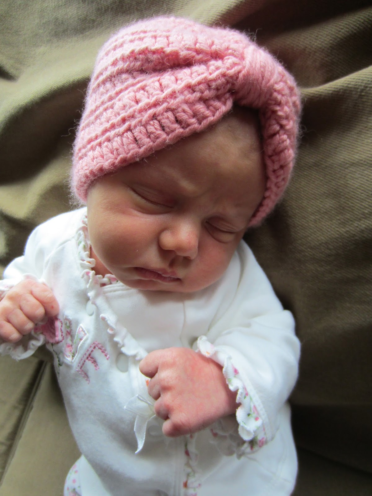 Free Crochet Pattern Baby Turban : Groovy Moments: Crocheted Baby Turban