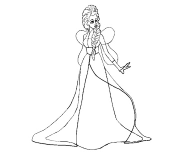 #6 Disney Frozen Coloring Page