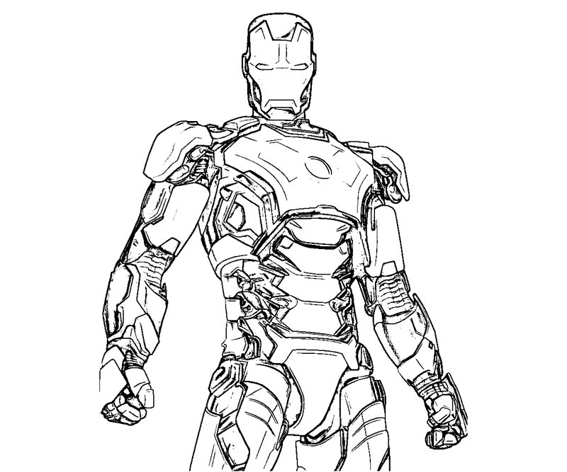 Iron Man 3 Coloring Pictures Pages To Print Images Becuo