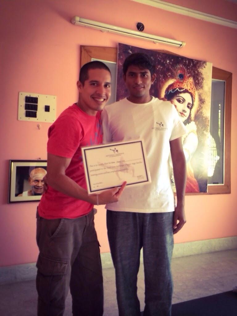 Marco Pino with Vijay Kumar