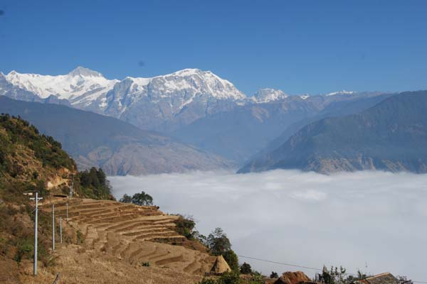 View of Annapurna and Sikless from Thak