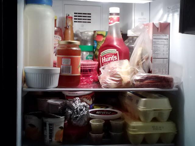 food, frig, stuffed, clean, organize