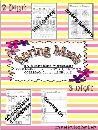 http://www.teacherspayteachers.com/Product/Spring-Math-Worksheets-1214668