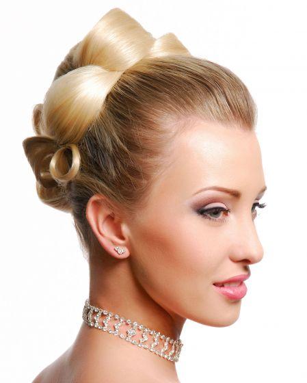 Peinados recogidos con mo os altos peinados para fiestas - Recogidos altos para bodas ...