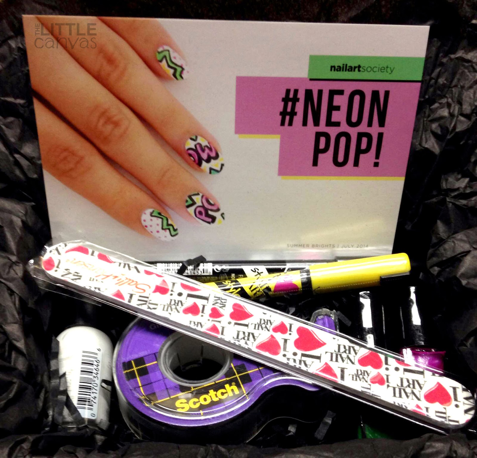 Nail Art Society: #NeonPop Kit Review - The Little Canvas