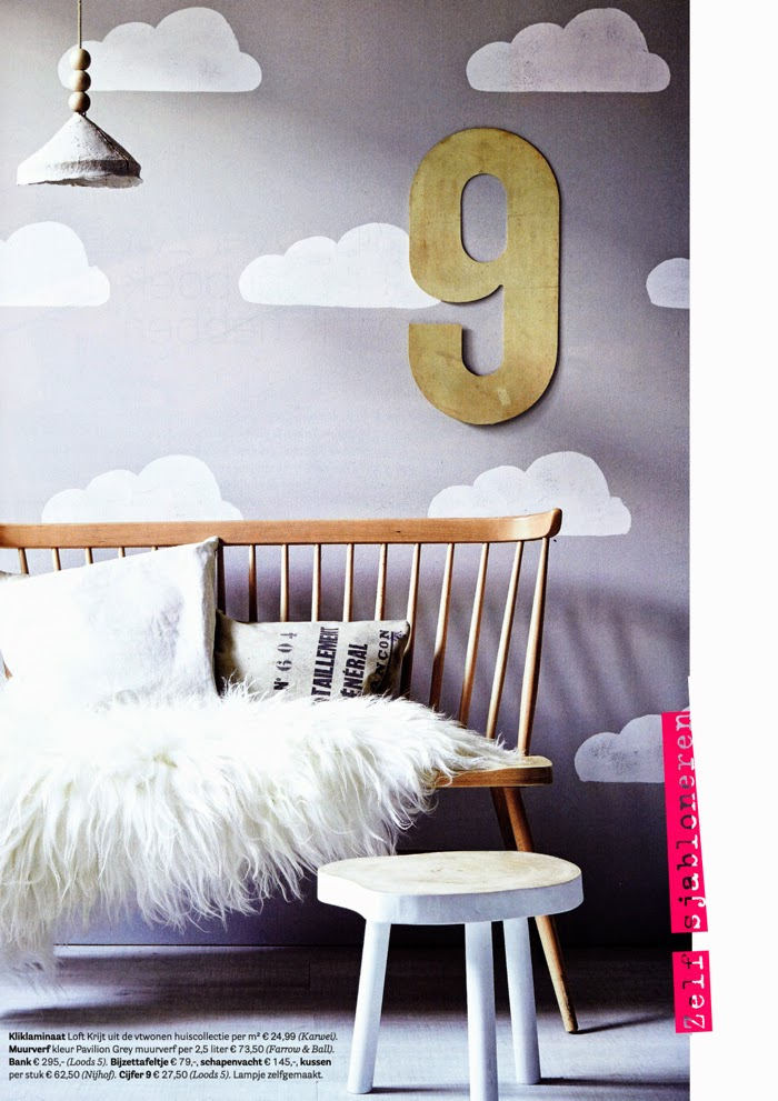 DIV clouds on the wall - styling Cleo Scheulderman - photo Alexander van Berge