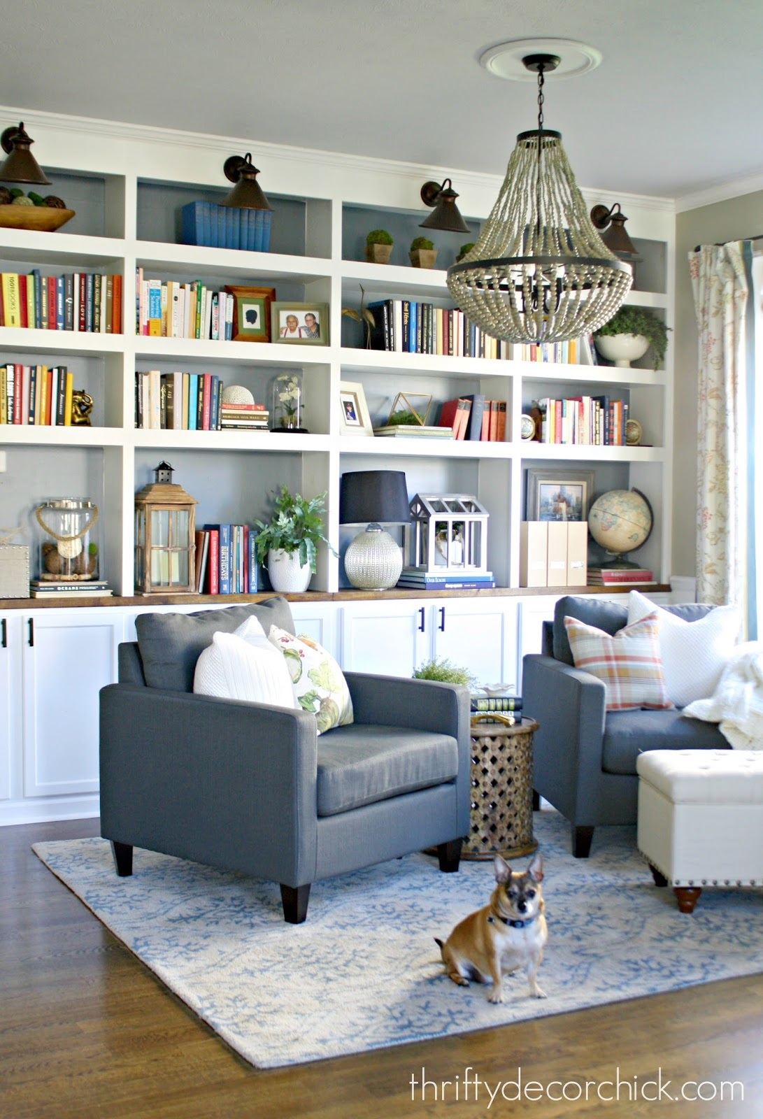 The library is complete for real this time from thrifty for Library living room ideas
